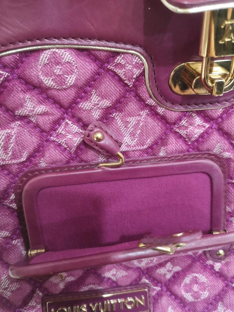 Louis Vuitton monogram denim fuchsia Linda Limited edizion bag For Sale 3