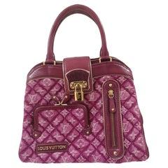 Louis Vuitton monogram denim fuchsia Linda Limited edizion bag
