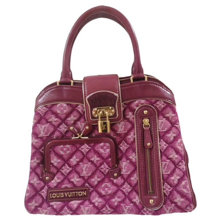 Louis Vuitton monogram denim fuchsia Linda Limited edizion bag For Sale