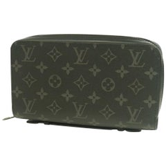 LOUIS VUITTON Monogram eclipse ZippyXL Mens long wallet M61698