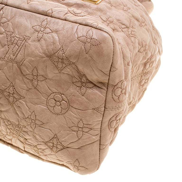 Louis Vuitton Monogram Embroidered Olympe Stratu Limited Edition GM Shoulder Bag For Sale 7