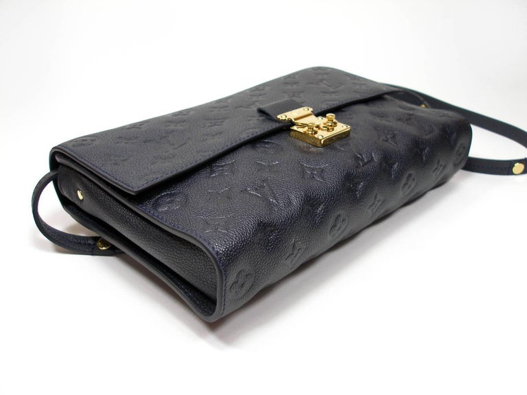 b9ebd12938c0 Louis Vuitton Monogram Empreinte Fascinante Blue Dark Shoulder Bag For Sale  1