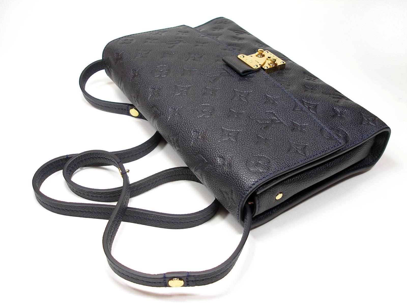 0be6cd182e64 Louis Vuitton Monogram Empreinte Fascinante Blue Dark Shoulder Bag at  1stdibs