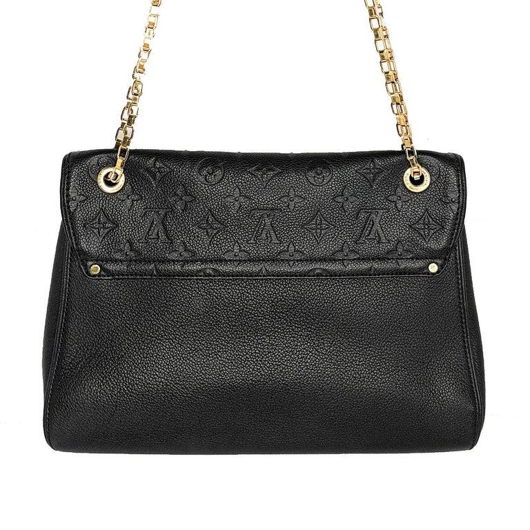 Black Louis Vuitton Monogram Empreinte Saint Germain MM Shoulder Bag For Sale