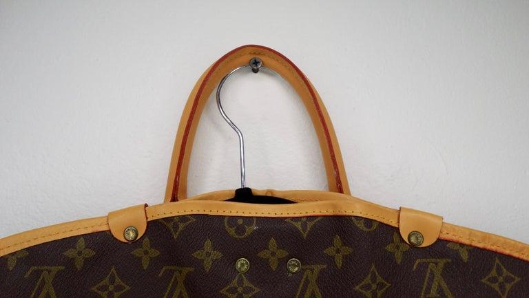 Louis Vuitton Monogram Foldable Garment Bag For Sale 5