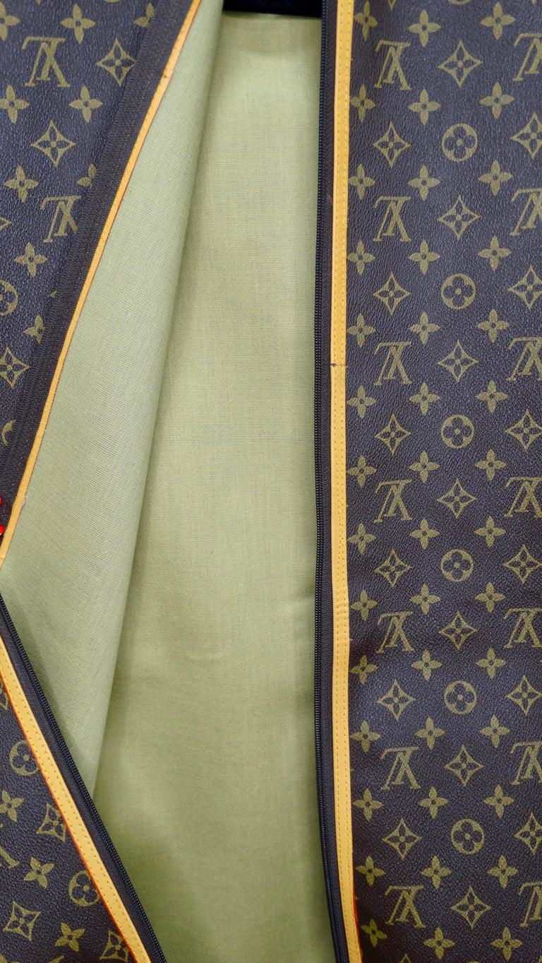Black Louis Vuitton Monogram Foldable Garment Bag For Sale