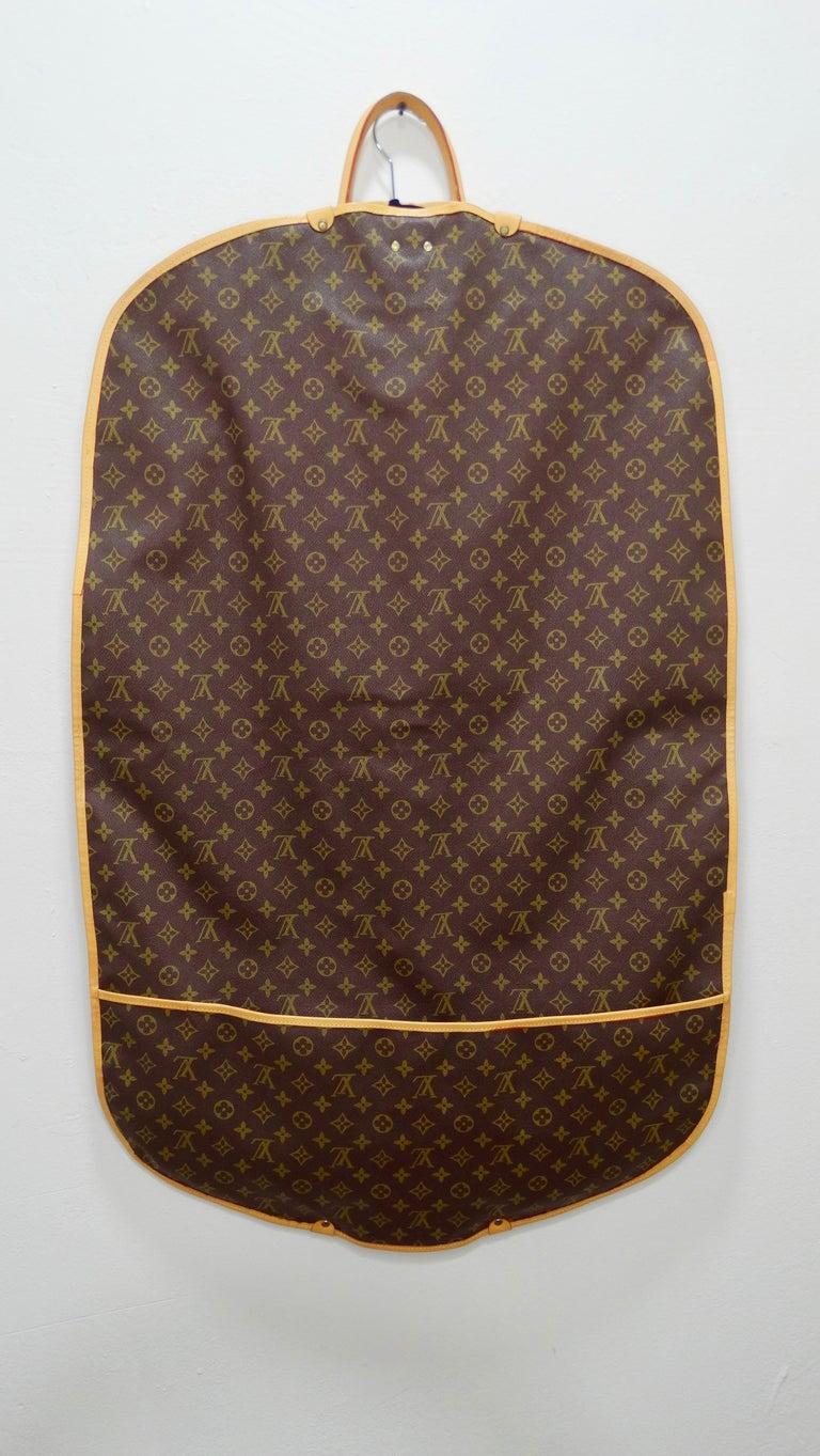 Women's or Men's Louis Vuitton Monogram Foldable Garment Bag For Sale
