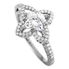 Louis Vuitton Monogram Fusion 1.82 Carat Diamond Platinum Engagement Ring