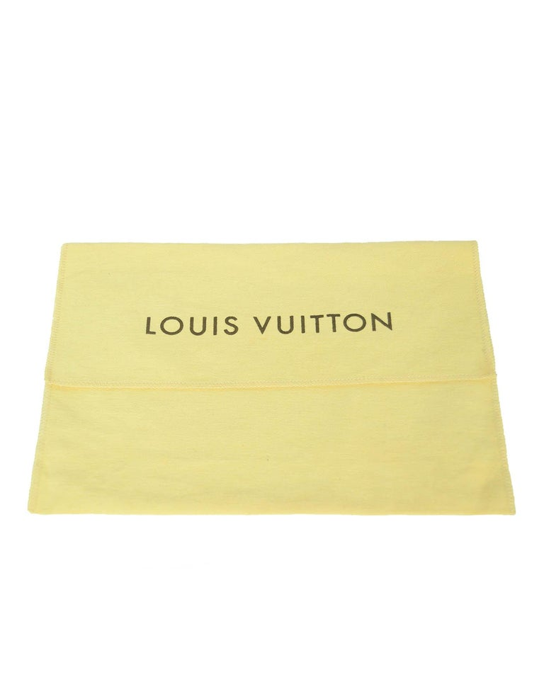 Louis Vuitton Monogram/Grape Pochette Pallas Wristlet Bag For Sale 4
