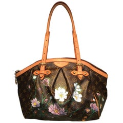 Louis Vuitton Monogram Hand Painted Floral Tivoli GM Shoulder Bag Tote