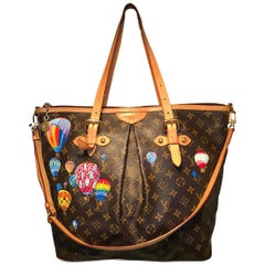 Louis Vuitton Monogram Hand Painted Hot Air Balloons Palermo GM Shoulder Bag