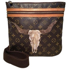 Louis Vuitton Monogram Customized Longhorn Bosphore Crossbody Shoulder Bag