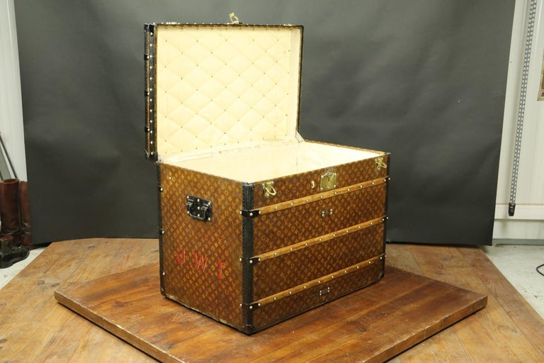 French Louis Vuitton Monogram High Trunk, '1909-1914' For Sale