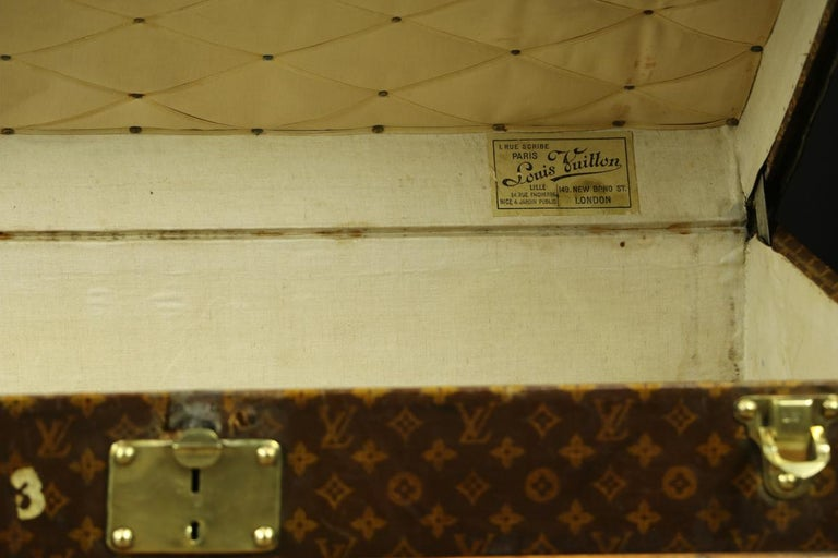 Louis Vuitton Monogram High Trunk, '1909-1914' In Good Condition For Sale In Haguenau, FR