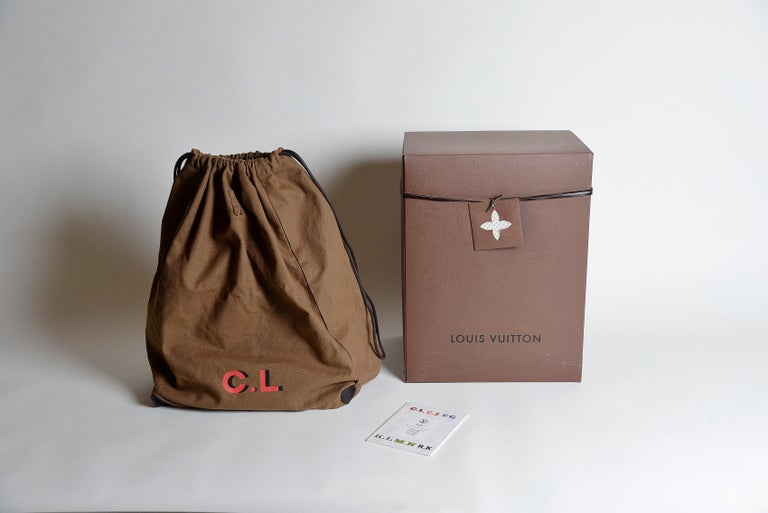 Black Louis Vuitton Monogram Iconoclast Christian Louboutin bag For Sale