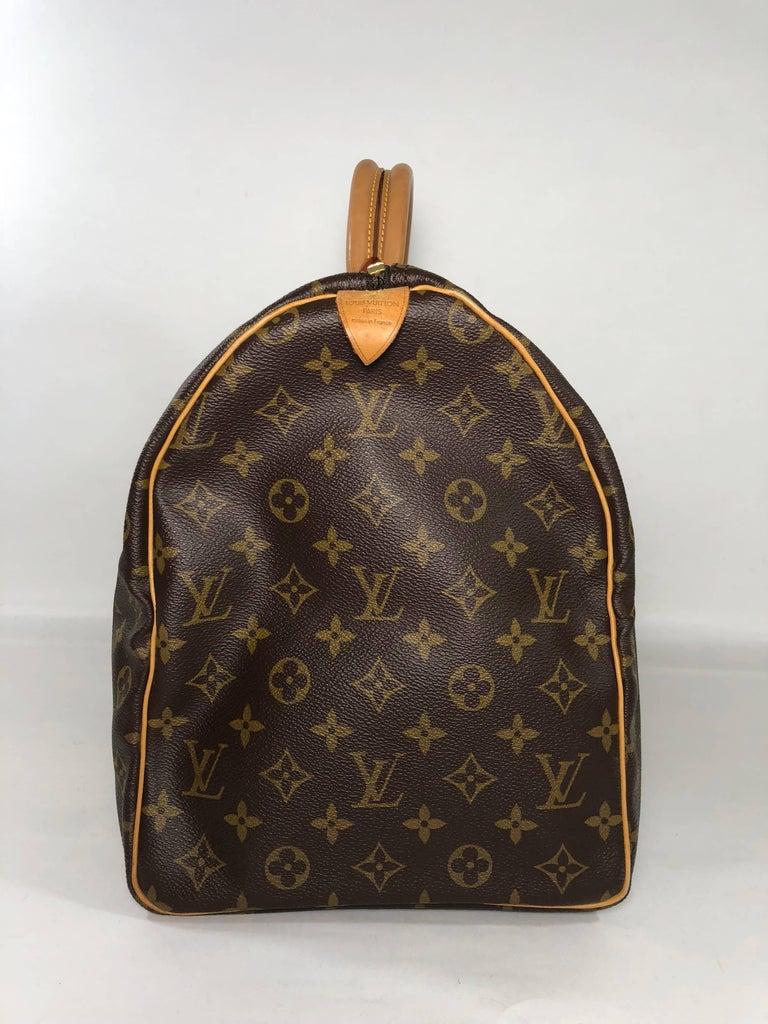 Black Louis Vuitton Monogram Keepall 50 Travel Bag For Sale