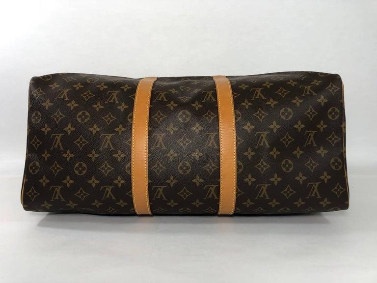 Louis Vuitton Monogram Keepall 50 Travel Bag For Sale 3