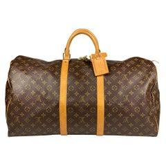 Louis Vuitton Monogram Keepall 55 Weekend Bag