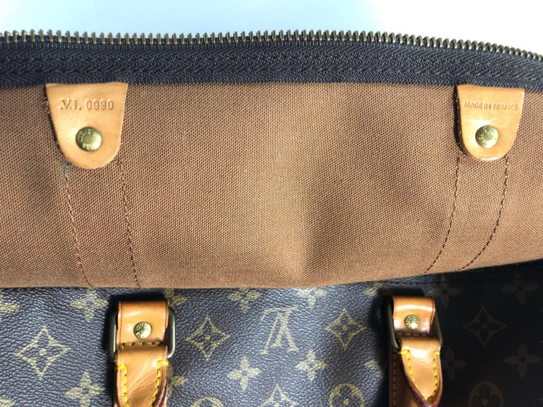 Louis Vuitton Monogram Keepall Bandoliere 60 Bag For Sale 7