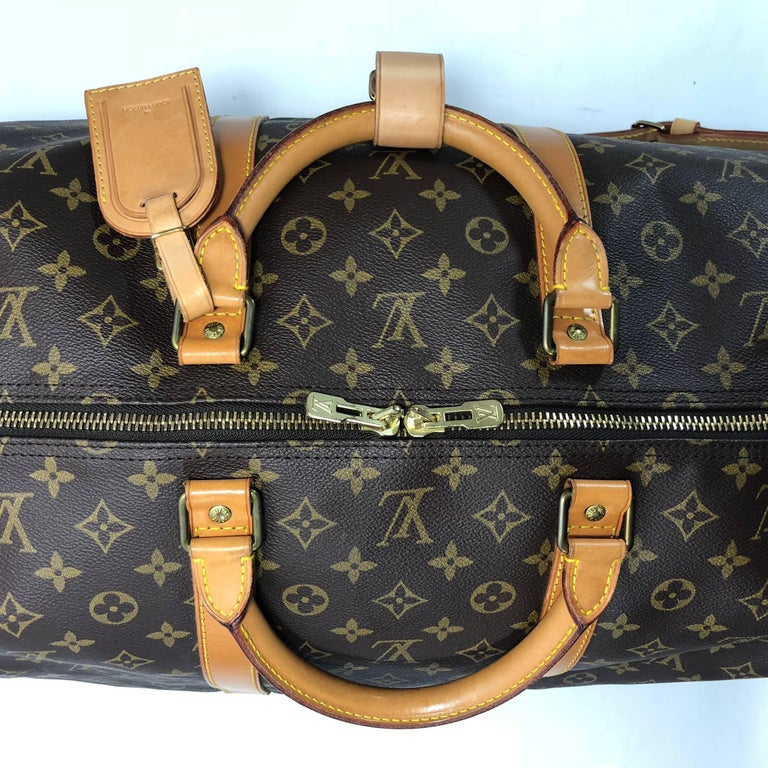 Louis Vuitton Monogram Keepall Bandoliere 60 Bag For Sale 1