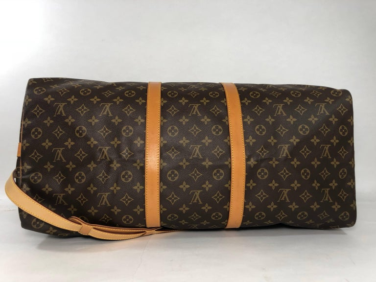 Louis Vuitton Monogram Keepall Bandoliere 60 Bag For Sale 3