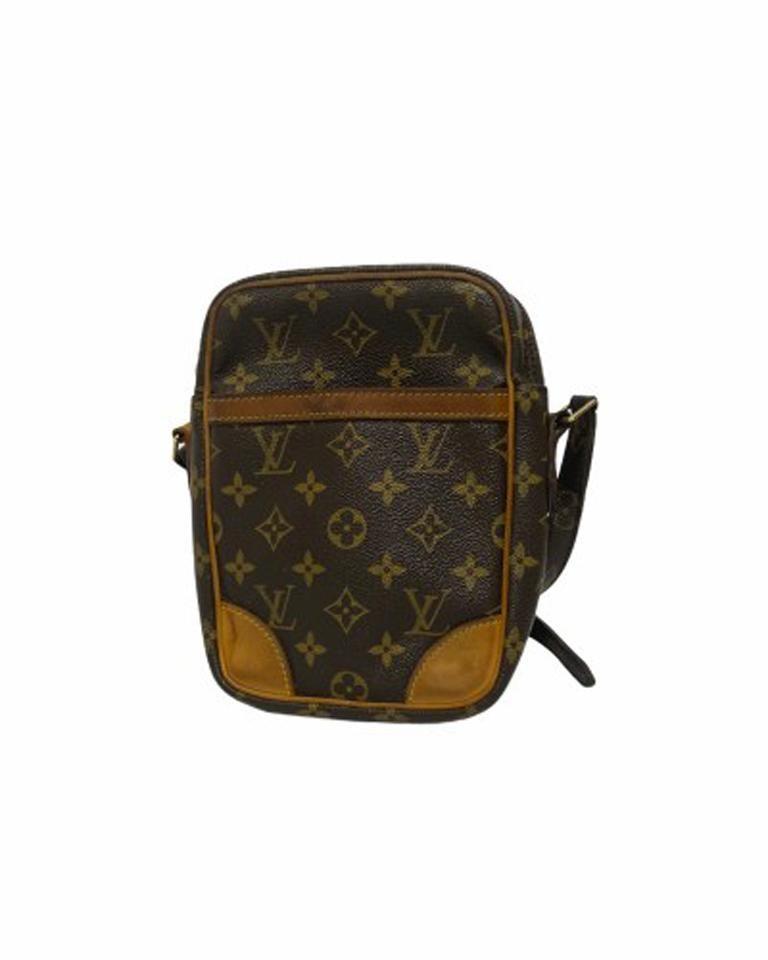 Black Louis Vuitton Monogram Leather Danube Bag For Sale