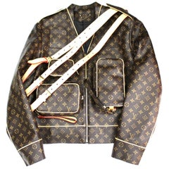 Louis Vuitton Monogram Leather Jacket