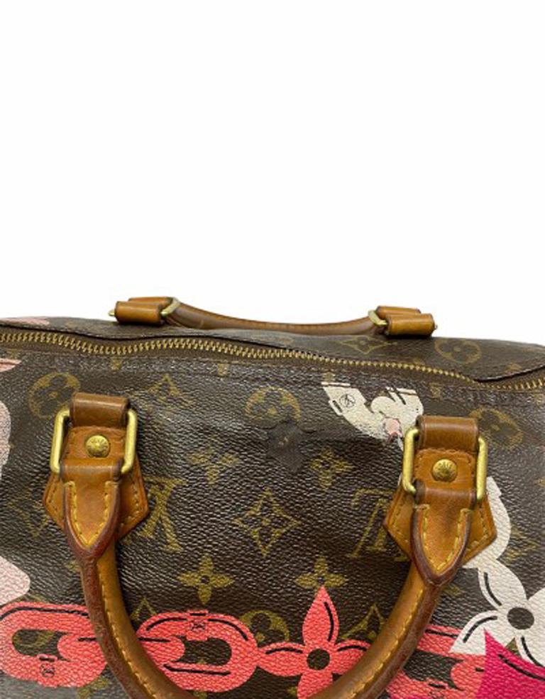 Louis Vuitton Monogram Leather Speedy Chains LE For Sale 6