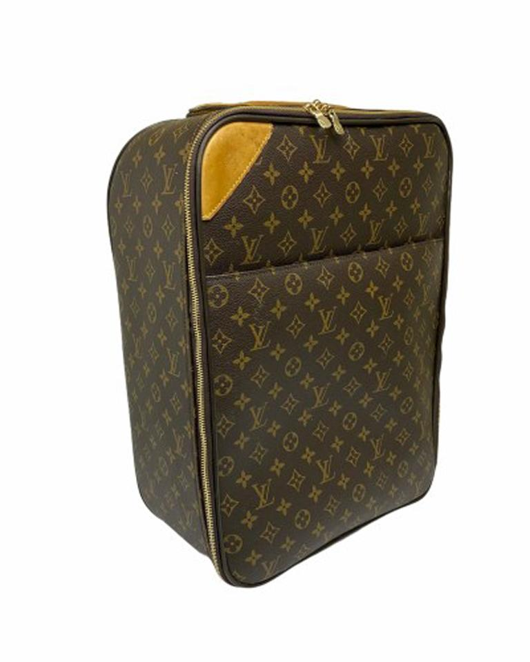 Black Louis Vuitton Monogram Leather Trolley  For Sale