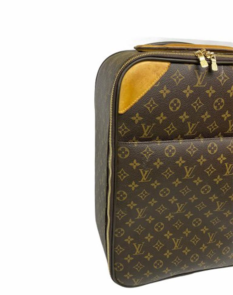Women's or Men's Louis Vuitton Monogram Leather Trolley  For Sale