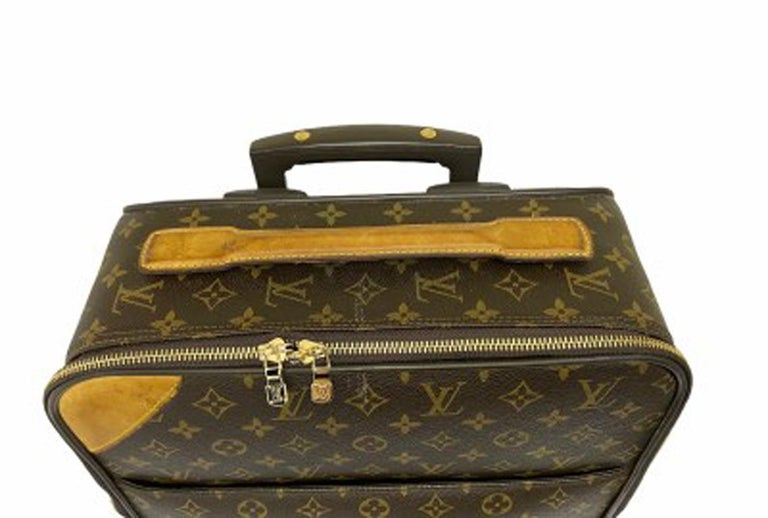 Louis Vuitton Monogram Leather Trolley  For Sale 2