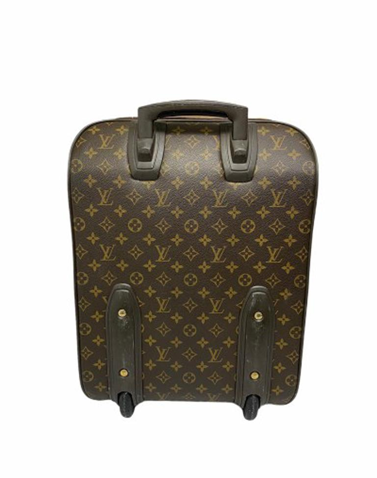 Louis Vuitton Monogram Leather Trolley  For Sale 4