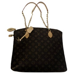 Louis Vuitton Monogram Lockit Chain & Leather Top Satchel 2013-2014 Fall Coll.