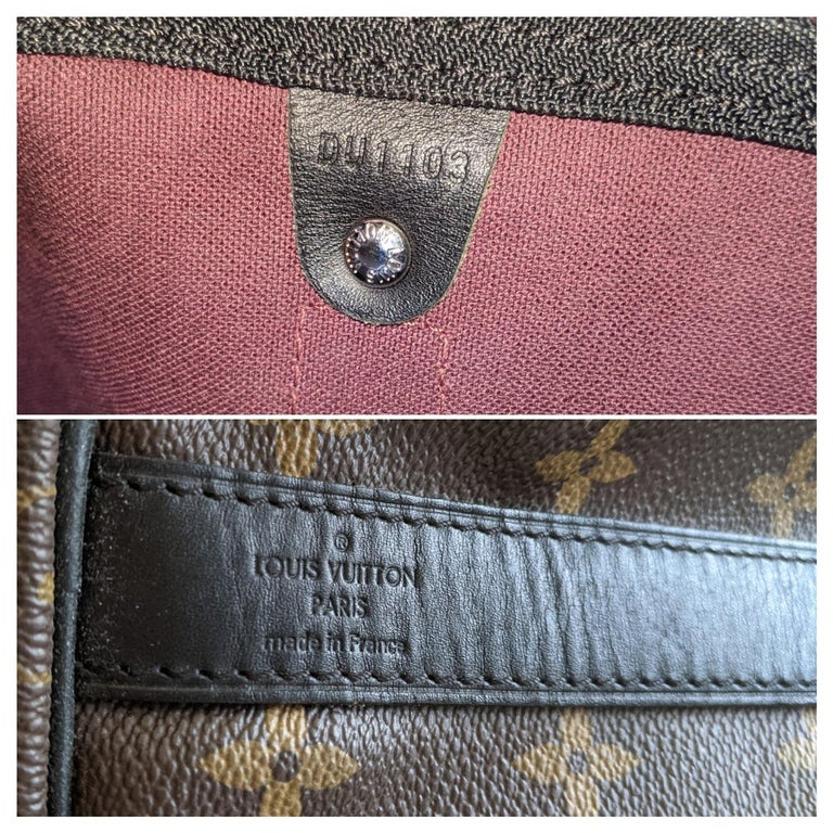 Louis Vuitton Monogram Macassar Keepall Bandouliere 55 Luggage For Sale 4
