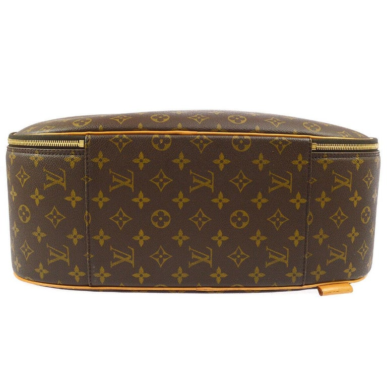 Brown Louis Vuitton Monogram Men's Women's Carryall Travel Duffle SuitcaseShoulder Bag