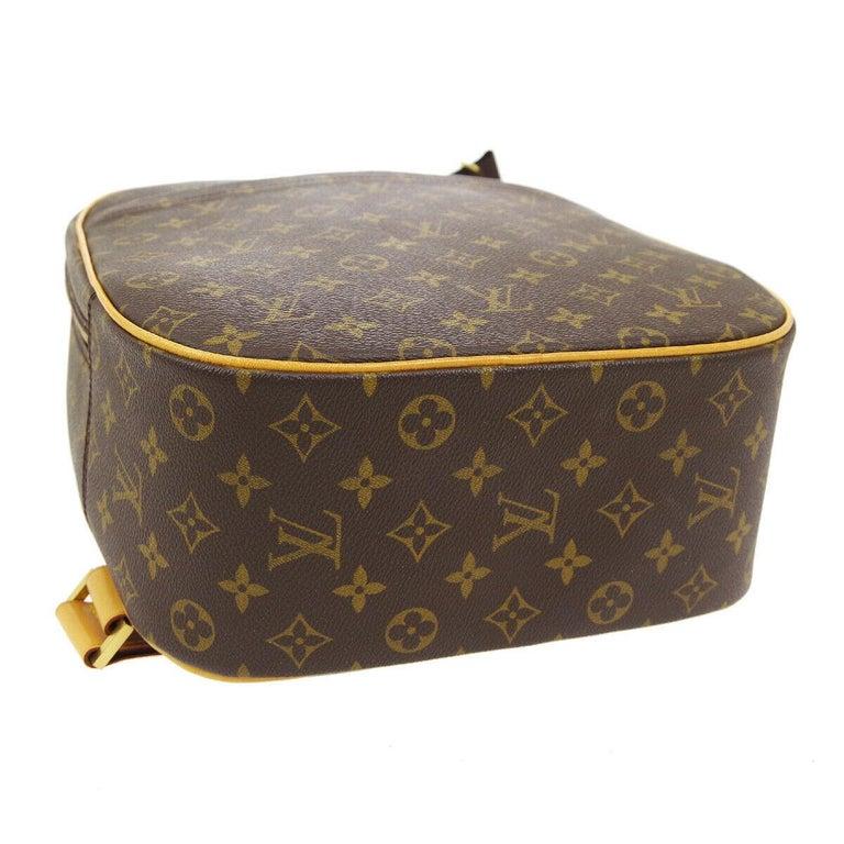 Black Louis Vuitton Monogram Men's Women's Carryall Travel One Shoulder Backpack Bag For Sale