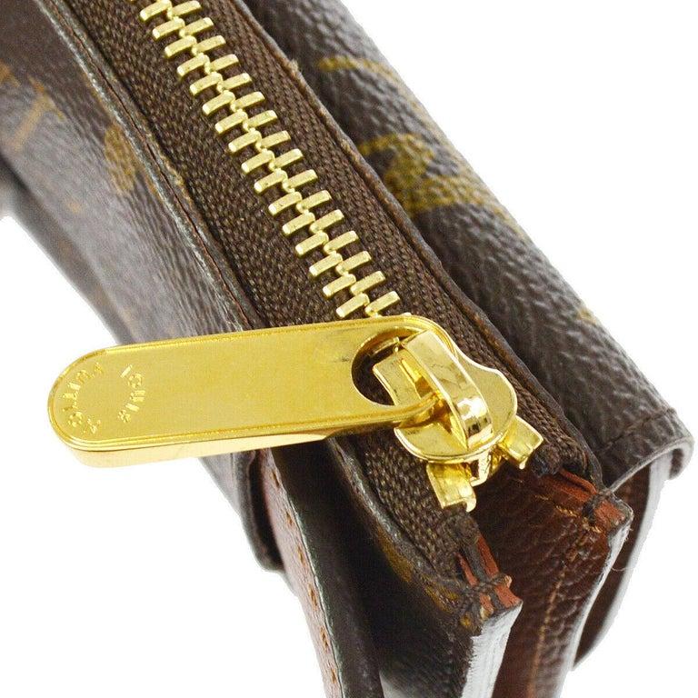 Brown Louis Vuitton Monogram Men's Women's Dual Double Fanny Pack Waist Belt Bag For Sale
