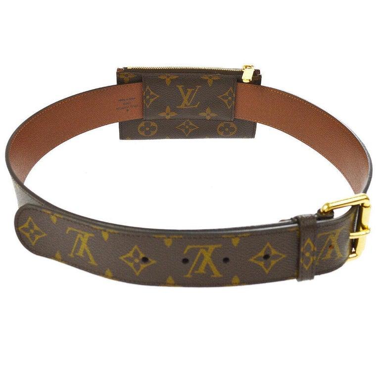 Women's or Men's Louis Vuitton Monogram Men's Women's Dual Double Fanny Pack Waist Belt Bag For Sale