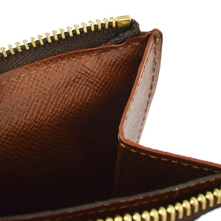 Louis Vuitton Monogram Men's Women's Dual Double Fanny Pack Waist Belt Bag For Sale 1
