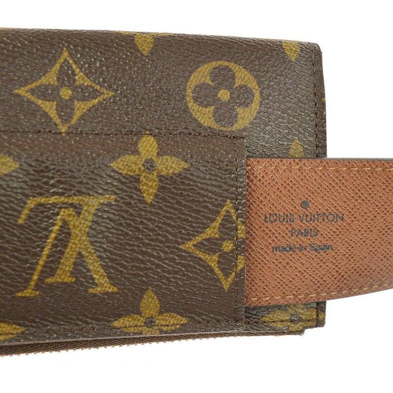 Louis Vuitton Monogram Men's Women's Dual Double Fanny Pack Waist Belt Bag For Sale 2