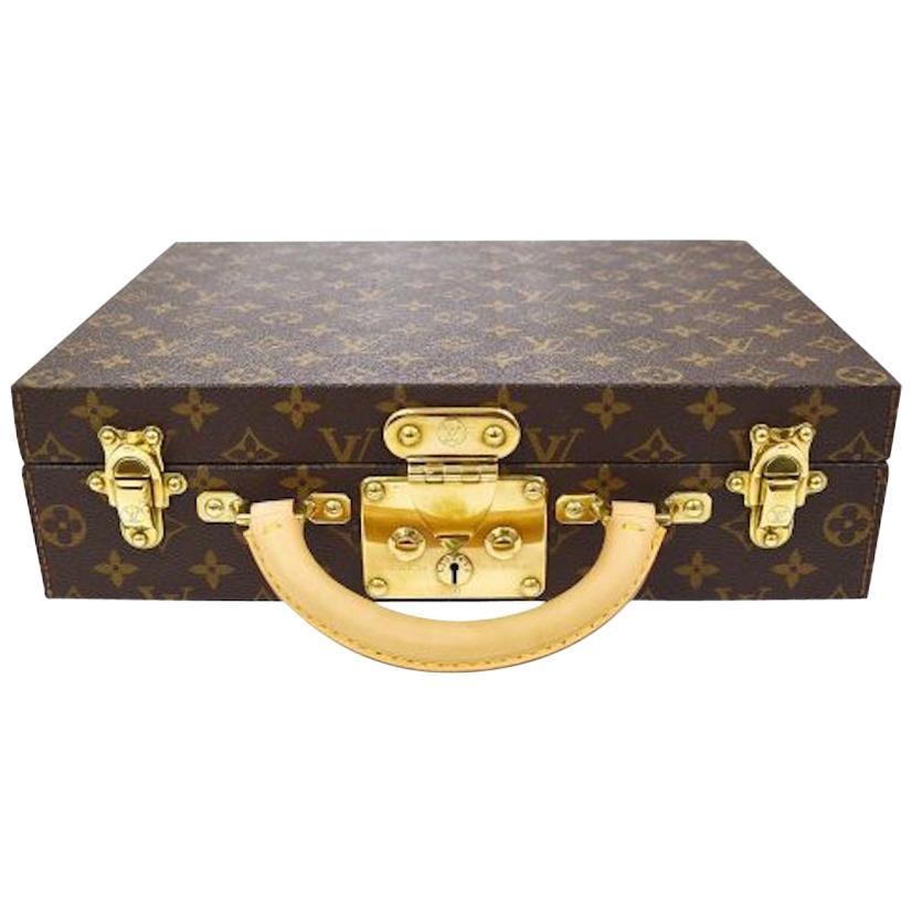 Louis Vuitton Monogram Men's Women's Jewelry Watch Vanity Travel Trunk Case