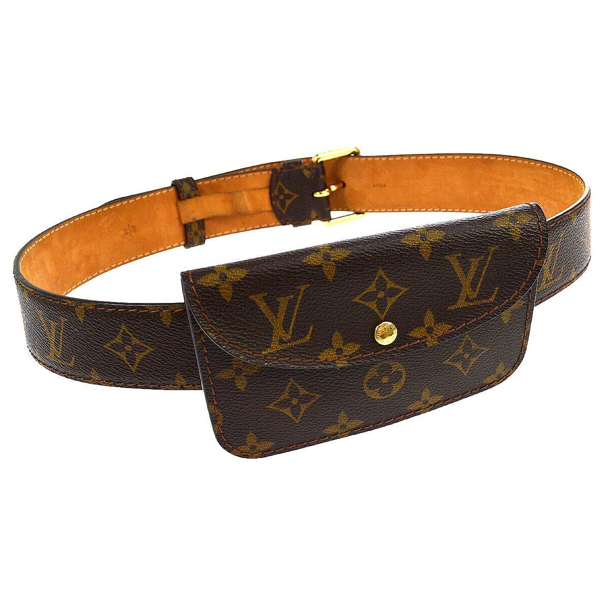 Louis Vuitton Monogram Men's Women's Pouch Bum Fanny Pack Waist Belt Bag