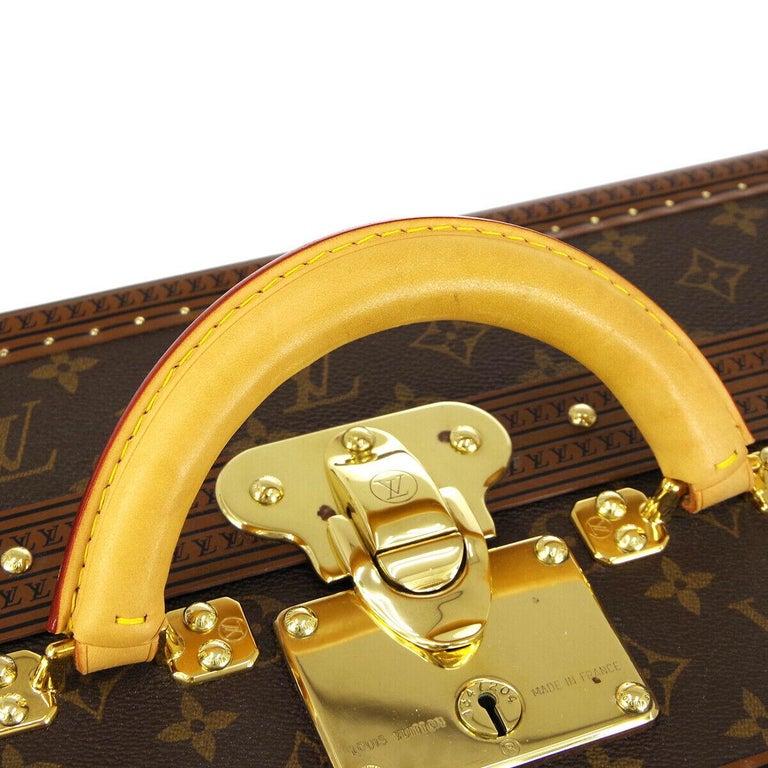 Louis Vuitton Monogram Men's Women's Travel Carryon Trunk Shoes Storage Case In Excellent Condition For Sale In Chicago, IL