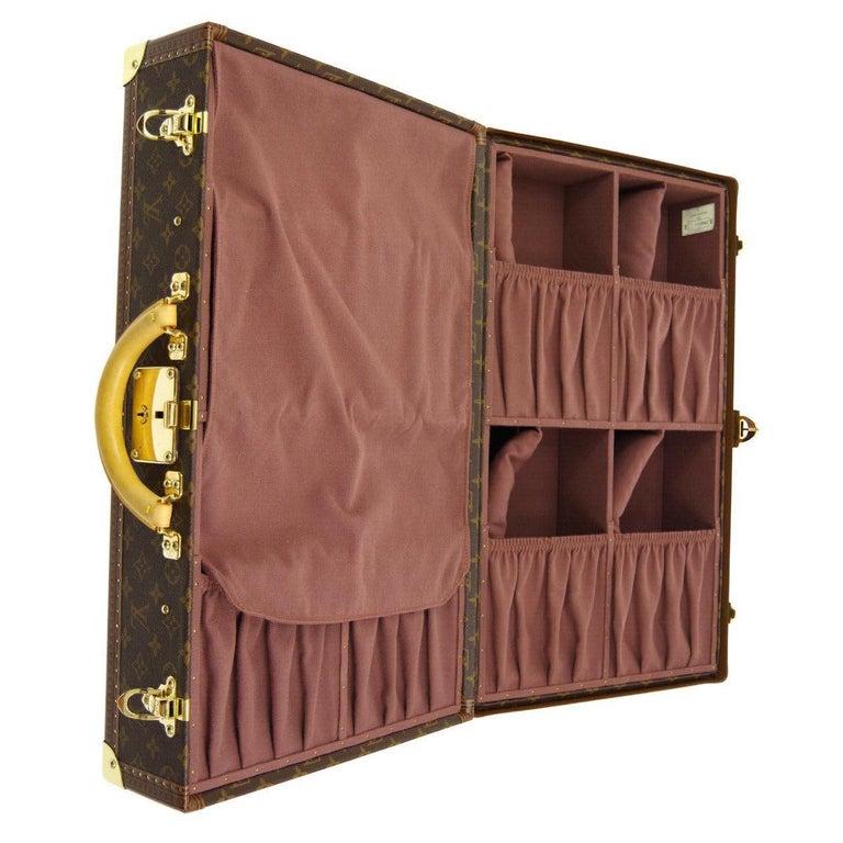 Louis Vuitton Monogram Men's Women's Travel Carryon Trunk Shoes Storage Case For Sale 1