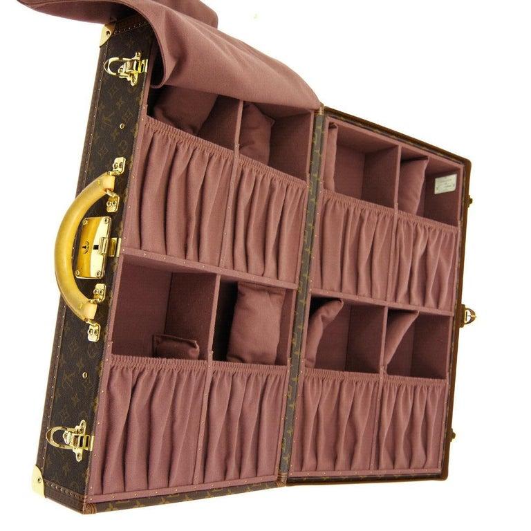 Louis Vuitton Monogram Men's Women's Travel Carryon Trunk Shoes Storage Case For Sale 2