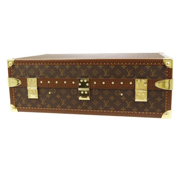 Louis Vuitton Monogram Men's Women's Travel Carryon Trunk Shoes Storage Case For Sale 3