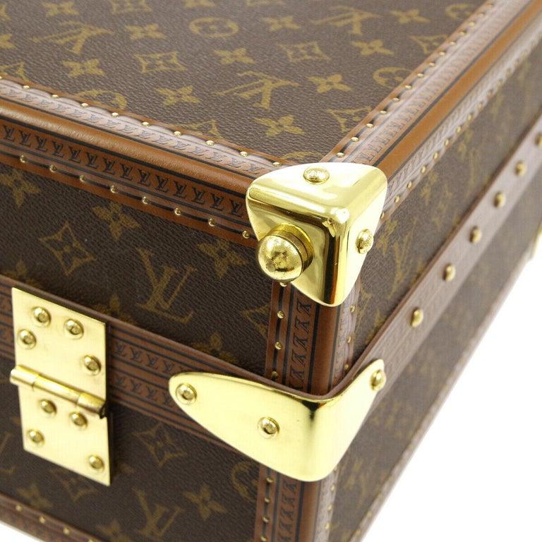 Louis Vuitton Monogram Men's Women's Travel Carryon Trunk Shoes Storage Case For Sale 4