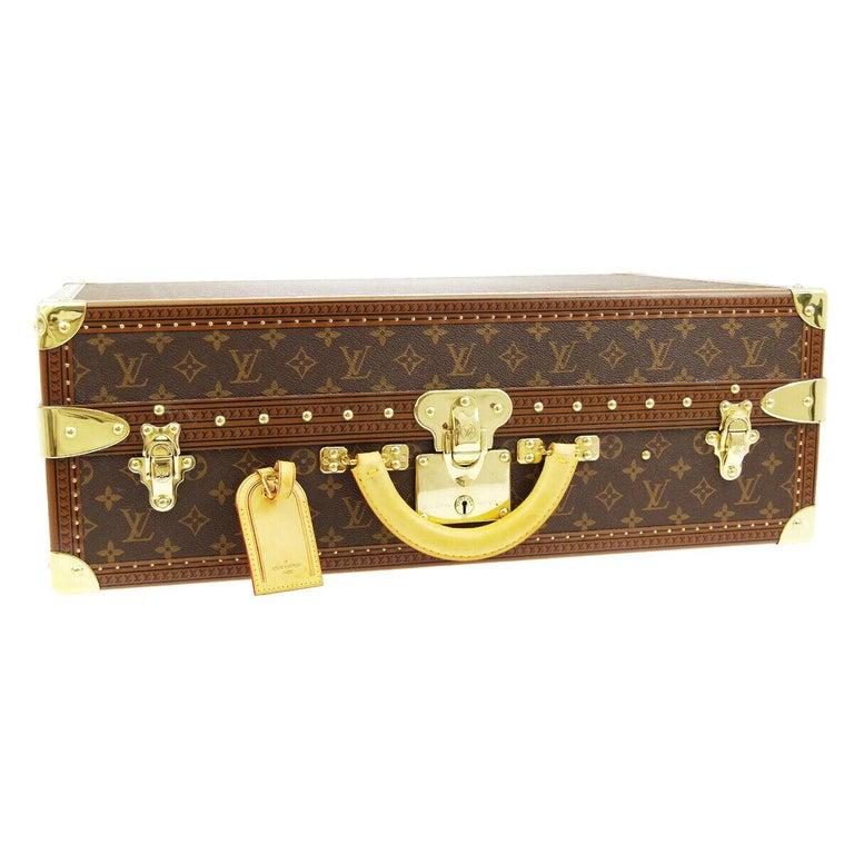 Louis Vuitton Monogram Men's Women's Travel Carryon Trunk Shoes Storage Case For Sale
