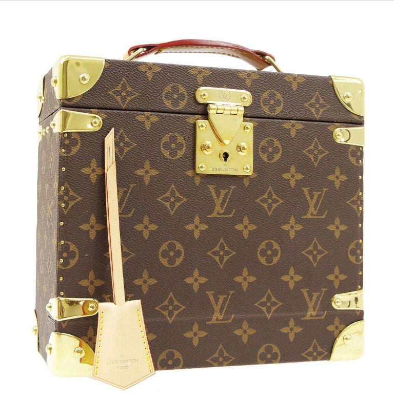 Louis Vuitton Monogram Men's Women's Vanity Perfume Cologne Travel Trunk Case In Good Condition For Sale In Chicago, IL