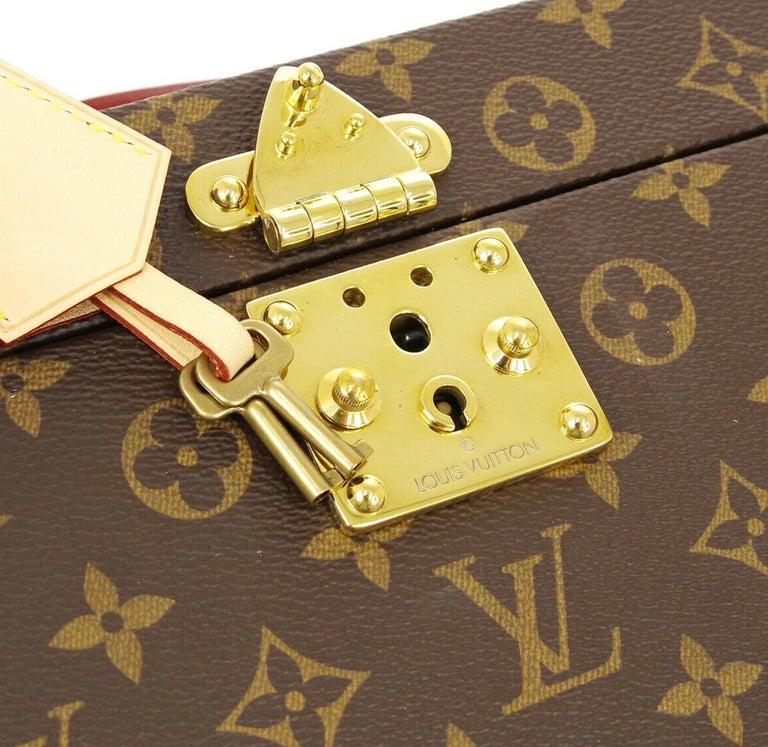 Louis Vuitton Monogram Men's Women's Vanity Perfume Cologne Travel Trunk Case For Sale 1